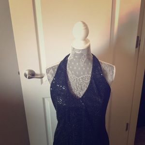 Long Black with sequins. Perfect for formal